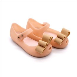 mini melissa shoes wholesale Australia - Mini Melissa 2019 Hot New style Baby Girl Shoes Christmas Shoes Gift PVC Summer Sandals Girl Bow Design Three Colors