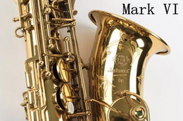 Saxophone plating online shopping - SELMER Mark VI High Quality Alto Eb Saxophone Professional Musical Instrument Brass Gold Plated Sax With Accessorie