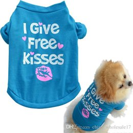 $enCountryForm.capitalKeyWord Australia - Hot cheaper Pet Puppy Summer Shirt Small Dog Cat Pet Clothes Dogs Pets Clothing Vest T Shirt for dogs spring Blue Cotton