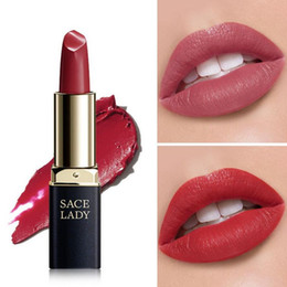 Smooth lipStick online shopping - SACE LADY Colors Silky Matte Lipstick Makeup Waterproof Nude Velvet Lip Stick Make Up Smooth High Pigmented Texture Cosmetic