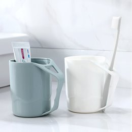 Glasses Korea Wholesale NZ - 2322 Originality Defence Scale Gargle Cup Korea Toilets Cup Mug For Mouth-rinsing Or Tooth-cleaning Brush One 's Teeth Glass Lovers