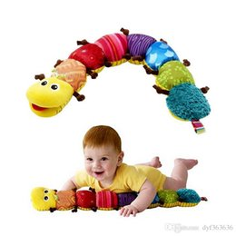 caterpillars cartoon NZ - Baby Toys Musical Stuff Caterpillar With Ring Bell Cute Cartoon Animal Plush Doll Early Learning Educational Kids Toys
