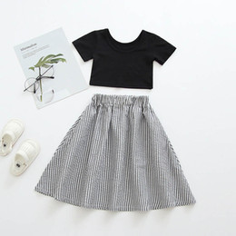$enCountryForm.capitalKeyWord Australia - 2019 new Summer girls suits fashion kids designer clothes girls outfits tops+long skirt 2pcs baby suits toddler girls clothes 0-4t A6489
