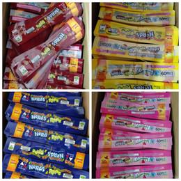 Sakızlı Şeker Çanta Plastik Edibles Perakende 4 Styles Packaging boşaltın İnekler Halat Gıda paketi folyo Koku Geçirmez Çanta Üç kenar-sızdırmazlık çantasını ilaçlı