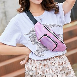$enCountryForm.capitalKeyWord Australia - Fashion Waist Packs Lady Shoulders Bag Chest Bags Flap Women Girls Sequin Waist Pack Letter Purse Mobile Phone PVC Messenger Bag