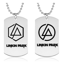 Linkin park pendant online shopping - Linkin Park Necklace Pendant Stainless Steel Silver Birthday Gift Souvenir Necklaces Fashion Unique Family jewelry Accessory