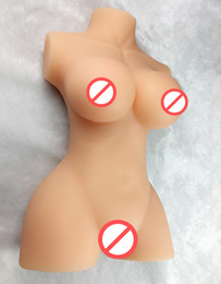 masturbators realistic vagina UK - Full Silicone Solid Sex Dolls With Vagina Anus Breast Japanese Real Love Doll Adult Sex Toys For Men, Male Masturbators