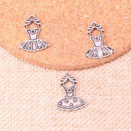 145pcs Charms balletto tutu dress ballerina gonna argento antico placcato pendenti misura monili che fanno risultati accessori 20 * 16mm