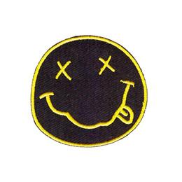 Großhandel Nirvana Band stickte Eisen auf Flecken Stickerei nähen Eisen auf Flecken für Kleidung Mädchen Jungen Eisen auf Flecken