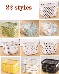 Wholesale Foldable Colors Sundries Storage Bin Closet Toy Box Container Organizer Fabric Basket Home Desktop Storage wash stand Cosmetics Basket Bags