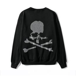 Mens diaMond sweatshirt online shopping - Designer Mens Hoodies Fashion Brand Clothes Mastermind Japan MMJ Side Zipper Skull skeleton Diamond Print Cotton Pullover Hooded Sweatshirt