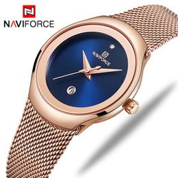 Luxury Fashion Brand Quartz Watch Australia - Naviforce Luxury Brand Watch Women Fashion Dress Quartz Watch Ladies Full Steel Mesh Strap Waterproof Watches Relogio Feminino Y19052201