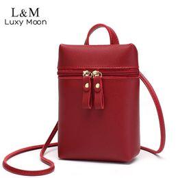$enCountryForm.capitalKeyWord NZ - Cell Phone Messenger Bag Women Mini Leather Crossbody Mobile Bags Black Fashion Shoulder Bag Portable Strap Coin Purse Xa67h