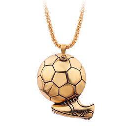 boots necklace Canada - Charm Football Soccer Boots Shoes Basketball Pendant Necklace Men Boy Children Gift Necklaces Sporty Style association Jewelry