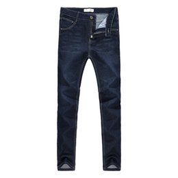 cheap clothes china NZ - Hot Sale Mens Biker fashion Jeans Men homme Casual Denim Straight Design Blue Cheap Clothes China Brand Jeans Men hombre