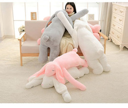 life size toy bear UK - [Funny] Large size 120cm Soft Cartoon Big Ear rabbit Plush Toy Giant Animal Rabbit Stuffed Pillow Girl Doll kids gift