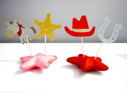 $enCountryForm.capitalKeyWord Australia - western cowboy Cupcake Toppers kids boy birthday Decoration wedding birthday baby bridal Party Decoration Party Supplies
