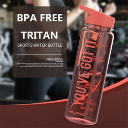 bpa free juice bottles wholesale Australia - Bpa Free 750ml Tritan Plastic Sports Outdoor Water Bottle With Volume scale printing For Kitchen My Drink Juice Handle Kettle