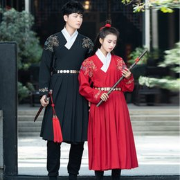 $enCountryForm.capitalKeyWord Australia - Chinese Hanfu Wushu Clothing Traditional Ancient Costumes Women Minority Dance Suit Men Tang Dynasty Costume Show Wear DNV11612