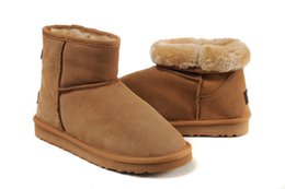 ChoColate suede shoes online shopping - Hot winter snow boots WGG classic ladies warm mini boots Christmas lady Minis shoes chestnut chocolate gray black Sale