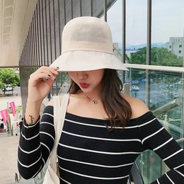 Art Church Australia - New arrival Fisherman's hat woman bowknot decoration summer outings breathable art sun hat sun hat prevent ultraviolet ray