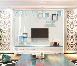 Bedroom Stereo Australia - Custom Any Size Murals Wallpaper 3D Stereo 3D hand-painted elegant a Wall Painting Living Room TV Sofa Bedroom Backdrop Wall Papel De Parede