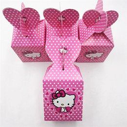 $enCountryForm.capitalKeyWord Australia - 6pcs Hello Kitty Birthday Party Supplies Cat Candy Box Baby Birthday Party Decoration And Favour Event Supplies Favors
