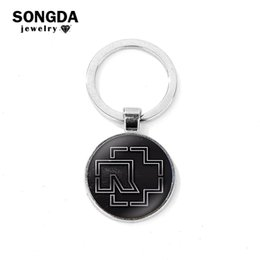 $enCountryForm.capitalKeyWord Australia - SONGDA 2019 New Keychain Harajuku Logo 3D Printed Glass Cabochon Alloy Charm Key Ring Punk Heavy Metal Band Collection