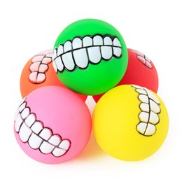 $enCountryForm.capitalKeyWord Australia - Pet supplies can be audible cartoon ball multicolor optional safe and harmless small dogs and dogs toys training ball