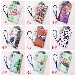 Wrist Strap Wallet Australia - New Women Pu Leather Long Wallet Handbag Zipper Up Cards Phone Coin Holders Purse With Wrist Strap Fa$b Women Bag