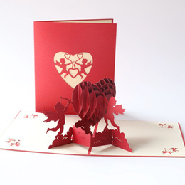 $enCountryForm.capitalKeyWord Australia - Valentine's Day Stereo Greeting Card 3D Creative Three-dimensional Love Blessing Card Handmade Greeting Cupid Heart