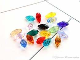 Wholesale Items Sold Australia - 100pcs lot mix colors Faceted Teardrop CLEAR Crystal Glass Loose Beads 6*12mm Jewelry DIY Loose Beads Hot sell Items
