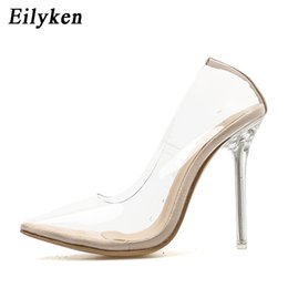 8082312a441 Eilyken PVC Transparent Pumps Pointed Toe Perspex Heel Stilettos High Heels  Point Toes Womens Party Shoes Nightclub Pump 35-42  37581