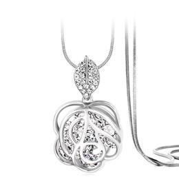 $enCountryForm.capitalKeyWord Australia - Fashionable flower-shaped necklace charm necklace birthday gift Wholesale Drop Shipping