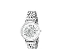 885ad04b71b1 ORO PLATA ACERO INOXIDABLE TOW TONE LADIES RELOJ AR1926 AR1925 Reloj Mujer  Relojes de diamantes de imitación Señora Diamante Vestido de piedra Reloj  Regalo ...