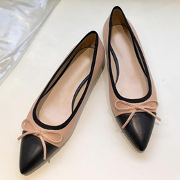 $enCountryForm.capitalKeyWord Australia - High quality sexy pointed flat shoes,womens ballet shoes,fashion party dress shoes, casual dress leather shoes,breathable and comfortabl qg