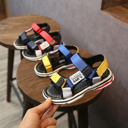 $enCountryForm.capitalKeyWord Australia - Kids Designer Shoes Boys Girls Sandals Infant Chaussures Pour Enfants Summer Comfortable Beach Anti Skidding Soft Sole Blue And Red Colors