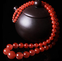 $enCountryForm.capitalKeyWord Australia - Genuine Brazilian natural red agate necklace Tower chain Female new sweater chain Crystal long necklace wholesale
