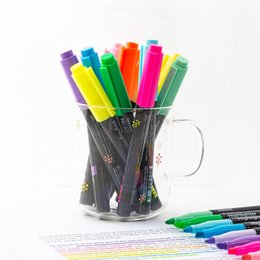 $enCountryForm.capitalKeyWord NZ - 20 pcs Lot Adding super color Pastel highlighters marker pen 1-4mm writing Stationery Office accessories School supplies