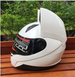 Motorcycle helmet full face helmet Male and female knight personality racing full cover locomotive four seasons helmet Personalized running helmet-red-D,XXL