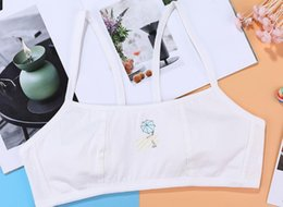Öğrenci gelişimi sling yelek kız sutyen kız iç çamaşırı pamuk 8 ila 16 yıl Sabit omuz askısı eski indirimde