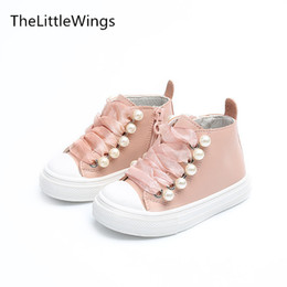 New Design Boy Kids Shoe Australia - Thelittlewings Autumn New Kids Shoes School Super Perfect Rivet Pearl Design Girls Boys Boots Super Soft And Comfortab Y19051303
