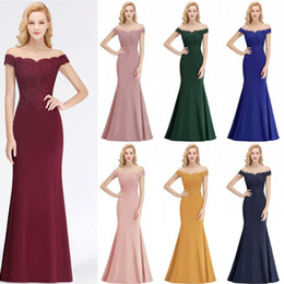 Chinese  Elegant Long Formal Dresses For Women Off Shoulder Mermaid Backless Bridesmaid Dresses Wedding Guest Evening prom Gowns BM0065 manufacturers