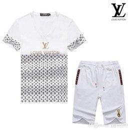 Branded Baby Kids Clothes Australia - 19ss Spring Luxury Designer Baby Boy's t-shirt Pants Two-piec Suit Kids Brand Children's 2pcs Cotton Clothing Sets