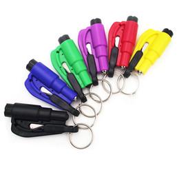 $enCountryForm.capitalKeyWord Australia - Hot 5 Pcs Mini Safety Hammer With Keychain Seat Belt Cutter Car Window Breaking Emergency Escape Tool FQ-ing