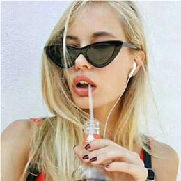 Discount womens black cat eye sunglasses - 2018 New Fashion Cute Sexy Ladies Cat Eye Sunglasses Womens Vintage Brand Small Sun Glasses Female Oculos de sol UV400 H