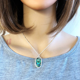 Necklaces Pendants Australia - Fashion Abalone Shell Geometric Hexagon Necklace Silver Gold Plated Slide Pendant Necklace Kendra Scott Jewelry For Women