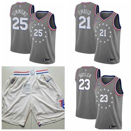 $enCountryForm.capitalKeyWord Australia - City Philadelphia Edition Basketball 76ers Jerseys 23# Jimmy Butler 21# Joel Embiid Pants 25# Ben Simmons Shorts ALL Stitched Jerseys