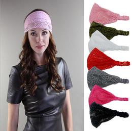 $enCountryForm.capitalKeyWord Australia - Women Elastic headband Fashion hollow out Stretchy Wide Head Band Lace Head Turban Bandanas Girl hair accessories dc506
