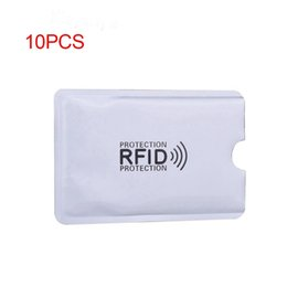 Wholesale Abdb Aluminum Foil Anti degaussing Card Cover Rfid Shielding Bag Nfc Credit Card Anti theft Brush Id Card Protector